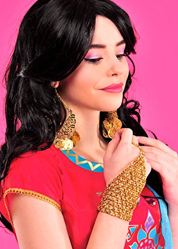 Womens Bollywood Gold Perlen (Bollywood Fancy Dress Outfits)