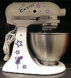 Küchenmaschinen Aufkleber Fee lila für Kitchenaid Artisan weiß