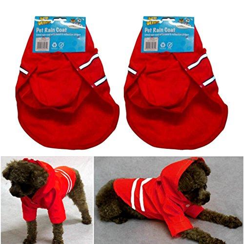 2Stück Hi Sichtbarkeit Pet Regenmantel–komplett mit Hoodies (Komplette Regen-mantel)