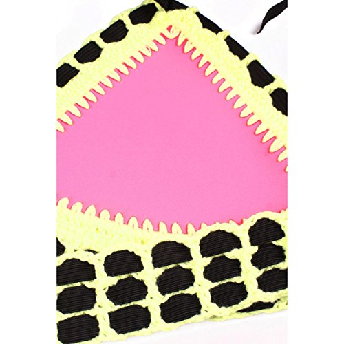 LYJBIK Damen Die Neue Handgemachte Bikinis Verband Split Badeanzug S M L XL Pink