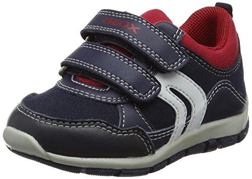 Geox Baby Jungen B Shaax A Sneaker, Blau (Navy/Red), 25 EU