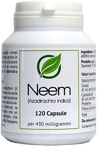 Neem (Azadirachta indica) 120 Capsule in barattolo salva aroma - ORGANICO