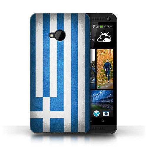 Coque en plastique pour HTC One/1 M7 Collection Drapeau - Irlande/irlandais Grèce/Grec