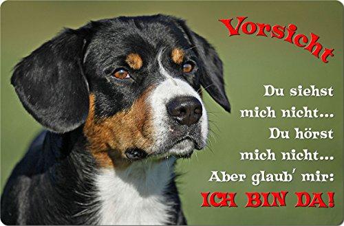 +++ APPENZELLER Sennenhund - Metall WARNSCHILD Schild Hundeschild Sign - AZS 04 T2