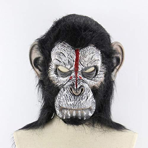 der Affen Halloween Cosplay Gorilla-Maskerade-Masken Monkey King Kostüme Caps Realistische Affenmaske ()