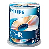 Philips CD-R Rohlinge (700 MB Data/80 Minuten, 52x High Speed Aufnahme, 100er Spindel)