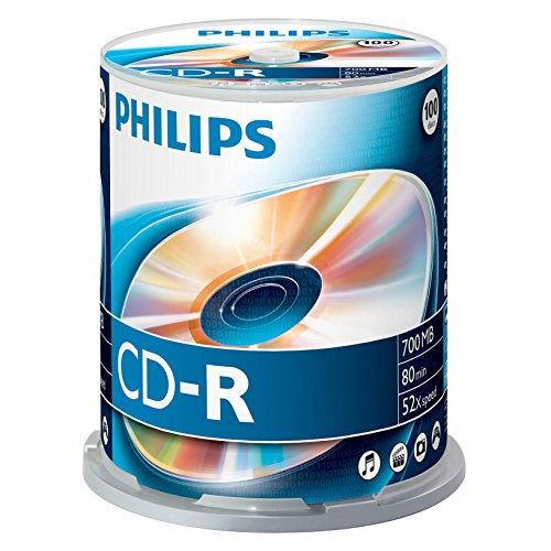 Philips CD-R Rohlinge (700 MB Data/ 80 Minuten, 52x High Speed Aufnahme, 100er Spindel) Test