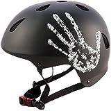 """Sport DirectTM BMX-Skate Erwachsene: """"Die Hand"""" Erwachsene: NB: 55-58 cm Cycle schwarz Fahrrad Helm CE EN1078 TÜV Zulassungen"""