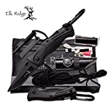 Elk Ridge SURVIVAL KIT Taschen-Messer LED-Lampe Kompass Angel-Set u.v.m. ER-PK4B
