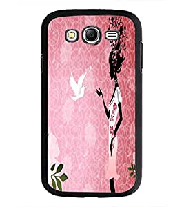 PrintDhaba Girl with Pigeon D-5578 Back Case Cover for SAMSUNG GALAXY GRAND I9082 (Multi-Coloured)