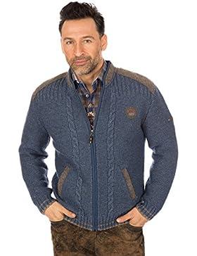 Spieth & Wensky Trachten Strickjacke Jeansblau