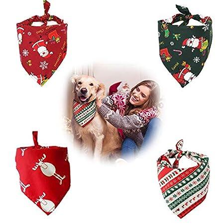 QIMMU Haustier Bandanas,Bandana für Hund,Haustier Dreieck Lätzchen, Kariertes Haustier Halstuch Hundehalstuch für kleine…