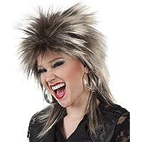 80er Jahre peiuca Rock Erin Rock tubo retro de la peluca para mujer