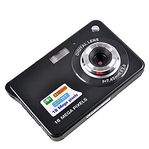 MAXLY 2,7 Zoll TFT LCD HD Mini Digital Kamera-Schwarz