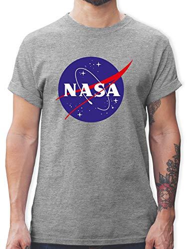 4d5223f2f9302 Nerds & Geeks - NASA Meatball Logo - M - Grau meliert - L190 - Herren T- Shirt und Männer Tshirt