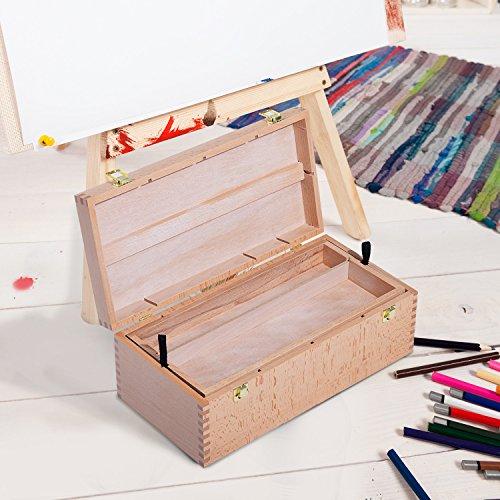 homcom-coffret-de-peinture-mallette-de-dessin-transportable-10-compartiments-en-bois-de-hetre-41l-x-