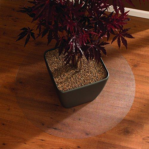 Floortex Bodenschutzmatte | Bürostuhlunterlage ultimat | 60 cm Durchmesser | aus Original Polycarbonat | transparent | rund | TÜV Zertifiziert | für alle Böden