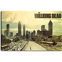 The Walking Dead imagen sobre lienzo Formato: 120x 80cm) impresión en alta calidad de la obra Wandbild. Más barato que un póster de una pintura al óleo advertencia. No un.
