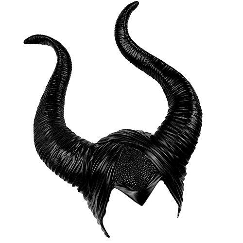 Halloween Kostüm Kopfschmuck Hörner für Maleficent Cosplay Dekoration Latex Kopfbedeckung Hut Party