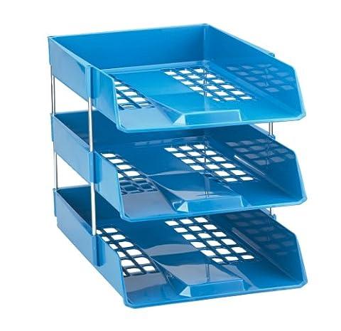 Avery 1132BLUE Basics Letter Tray, 278 x 70 x 390 mm - Blue