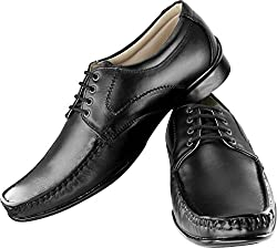 3-Strips Tapps Tetra-3010 Genuine Leather Formal Shoes Lace Up (Black)