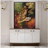 kingxqq Salbei Göttin Print heidnische Mythologie psychedelische Zigeunerhexe Göttin Kunstdruck und Poster Leinwand Gemälde Bild-40x60cm ohne Rahmen