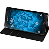 PhoneNatic Kunst-Lederhülle für Samsung Galaxy A3 (2016) A310 Book-Case schwarz Tasche Galaxy A3 (2016) A310 Hülle + 2 Schutzfolien