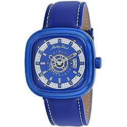 Mathey-Tissot Classic Reloj cuarzo 48mm color azul caja de H110BBU