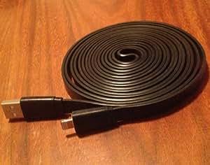 Flachkabel (Lightning auf USB, für iPhone5, iPadmini, iPodtouch5G/ nano7G, zum Aufladen und Synchronisieren, 3m) Violett