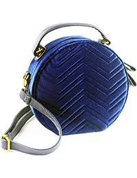 Amazon.es  Terciopelo azul - Bolsos  Zapatos y complementos 628be2958bdb