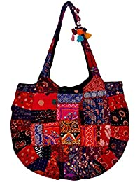 Gaurapakhi Rajasthani Collection And Ethnic Cotton Handmade Handbag With Multicolor For Women's - B07D7HJGFF