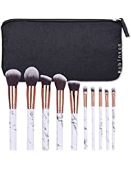 Robinson Fency Makeup Brushes Set Professional Synthetic Make-up Brush Kit Marble Handle Design Eyeliner Eyeshadow Foundation Blush Powder Liuqids Cosmetics Tool Kit