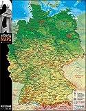 3D - Landkarte Deutschland 60 x 47 cm Karte Germany
