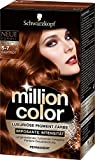 Million Color Intensiv-Pigment-Farbe 5-7, samtrot, Stufe 3, 3er Pack (3 x 126 ml)