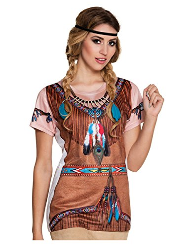 T-Shirt mit Indianeraufdruck für (Indische Kostüme West)