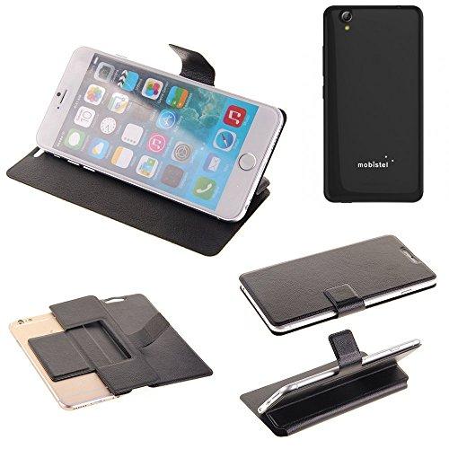 K-S-Trade Schutz Hülle für Mobistel Cynus E7 Schutzhülle Flip Cover Handy Wallet Case Slim Handyhülle bookstyle schwarz