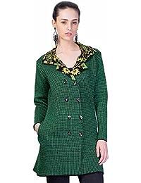 Montrex Green Designer Long Coat for Women