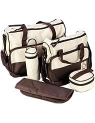 TOOGOO(R) 5pcs del bebe Cambio del panal del bolso momia madre multifuncional bolso de mano
