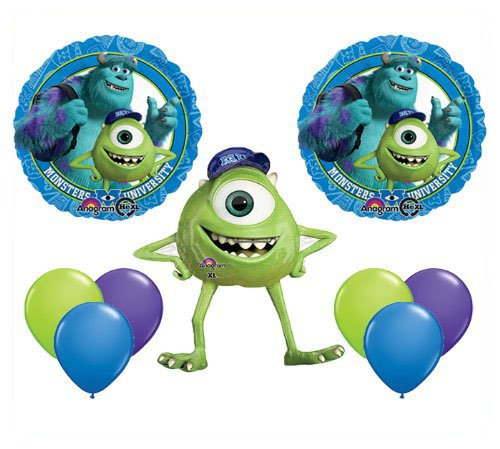 Monsters University Mike Jumbo Mylar Balloon Set Birthday Party Decor by Qualatex (English Manual) (University Monster Party Supplies)