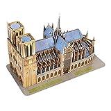 cineman Puzzle en Bois 3D Notre Dame De Paris Église catholique Construction Modèle Building Blocks Jigsaw Puzzle Jeu Mondial Bâtiment Bâtiment Jouet pour Enfants Adultes