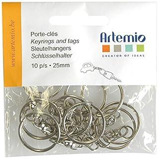 Artemio Keyrings Plus Chain, Pack of 10