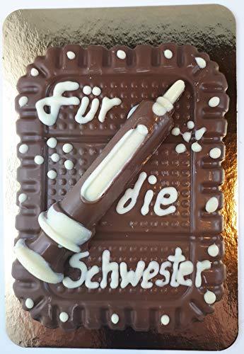 03#091519 Schokoladenplatte, mit Beschriftung, für die Schwester, Arzt, auch nach Wahl, Arztpraxis, Geschenk, Geburtstag, Hochzeit,