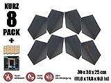 Super Dash 8 Stück 30 x 30 x 25 cm Kleine Dreieck Alpha Ecke Bass Trap Akustikschaum Raum Audio Isolierung Studio Schallschutzschaum SD1161