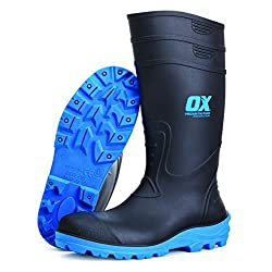 OX OX-S242405 Safety Wellington Boot, Black/Blue - 51Gw5x6ZCbL - OX OX-S242405 Safety Wellington Boot