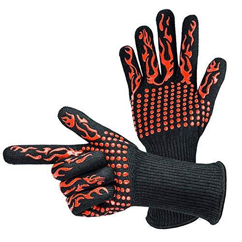 Kostüm Offizielle Scary - QIMANZI Heiß BBQ Grillen Handschuhe Kochen Extrem Hitze Beständig Ofen Schweißhandschuhe(F)