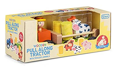 Tobar 23065 Wooden Pull Along Tractor