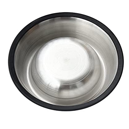 Homgaty Non-Slip Stainless Steel Food Water Bowl Feeder For Pet Dog Cat 2