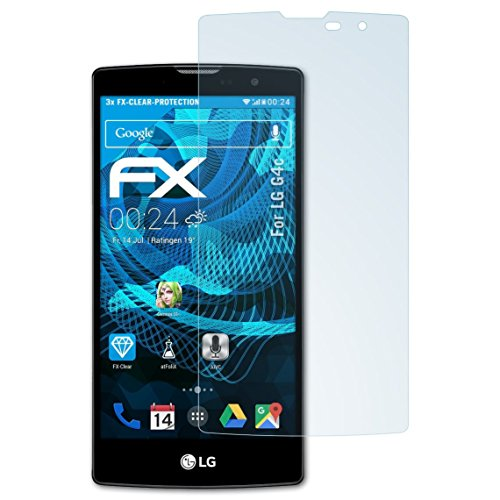 atFolix Schutzfolie kompatibel mit LG G4c Folie, ultraklare FX Bildschirmschutzfolie (3X)