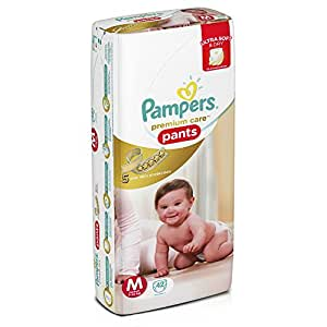 Pampers Premium Care Medium Size Diaper Pants (42 Count)