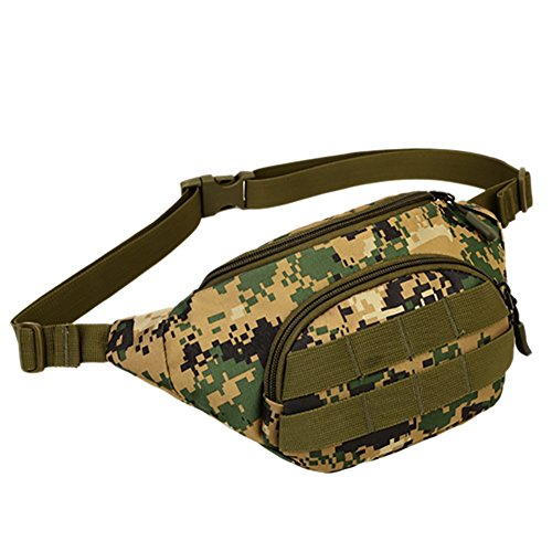 Aesy Men Women Military Cycling Waist Fanny Pack Bum Belt Bag Pouch Travel Hip Purse (Purse Bag Hip)